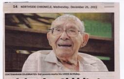 Another Brisbane Centenarian - congratul..