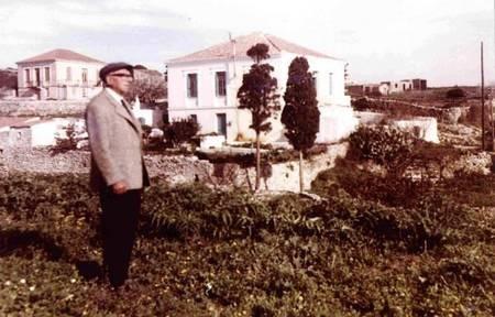 Maria Simos-Levounis. My Story. - George Levoune ouside Potamos house