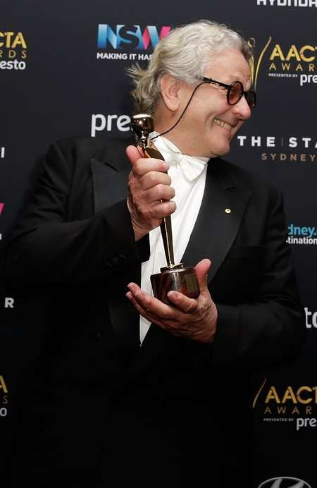 George Miller named best director and Max Mad: Fury Road best film - Held the dream for 36 years ... Director George Miller poses with the AACTA Award for Best Film for Mad Max Fury Road