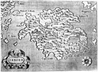 Porcacchi's map of Kythera.