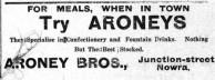 Aroney Brothers, Nowra. Advertisment. 1931.