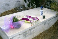 Sept 2008. (4) Toki Koizumi, the grandson of Lafcadio Hearn visits Kythera to pay homage to his grandparents.