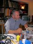 Father Petros Mariatos. Potamos, 2008. Explaining the Σκηνια (Tent) Project, at Ayios Theothoros.