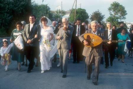 1990 wedding on Kythera.