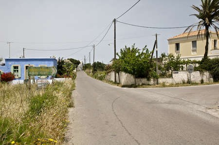 The signpost at Kondelianika on the central road, that leads to Ayios Ilias