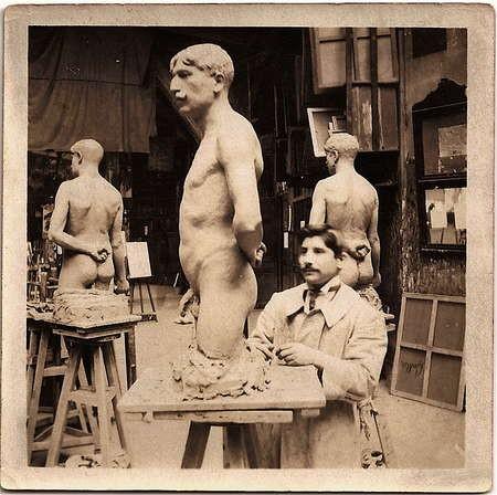 Emmanuel Andrew Cavacos - Cavacos in his Paris Studio