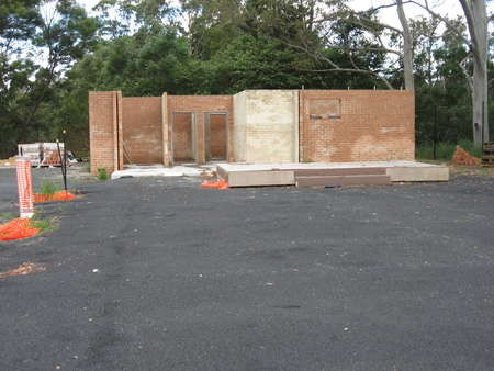 The amenities block is well under construction at the Saint Haralambos Church site - IMG_0561