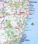 Map of Grafton, NSW, Australia.
