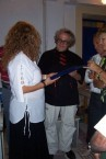 George Miller. Presented with a superb award from the Thimo (local government) of Kythera