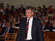 Deputy Mayor of Kythera, Michaelis Protospaltis accepting the Eptanesian award