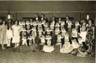 Mrs Saphira Caravousanos at the 1st Kytherian Ball, 1956