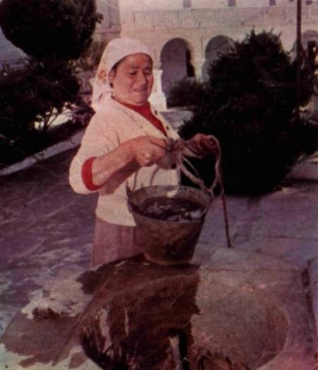 Miss Helen Calligeros, (1976), caretaker of the monastery of St. Mirtidion....