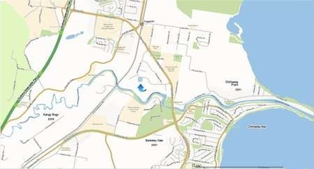 Map for the location of Saint Haralambos Church, Tuggerah, NSW Central Coast