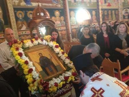 Parish Priest, the Reverend Athanasios Giatsios conducting the final ceremony