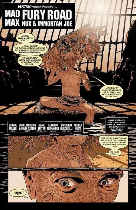 Vertigo for the DC Fan: Mark Sexton Introduces the Mad Max: Fury Road Comic - MMAXFRNIJ