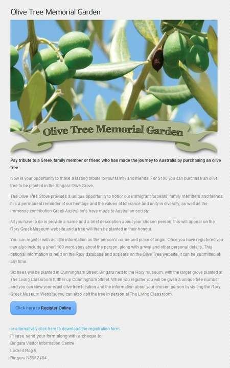 Olive Tree Memorial Garden - olive tree memorial garden