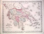 """COLTON, J. H.  Greece and the Ionian Republic New York, 1862 (11"""" x 14"""")."""