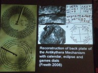 One of the many slides displayed by Professor Robert Hannah