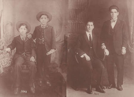 Bretos Margetis with one of his good friends, in 1904 and 1922