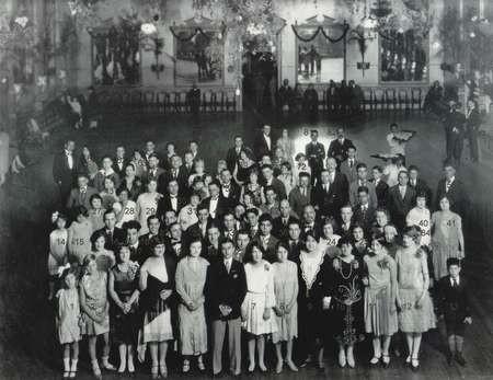 Dance 1927, The Australia Hall, Elizabeth Street, Sydney - the numbered version