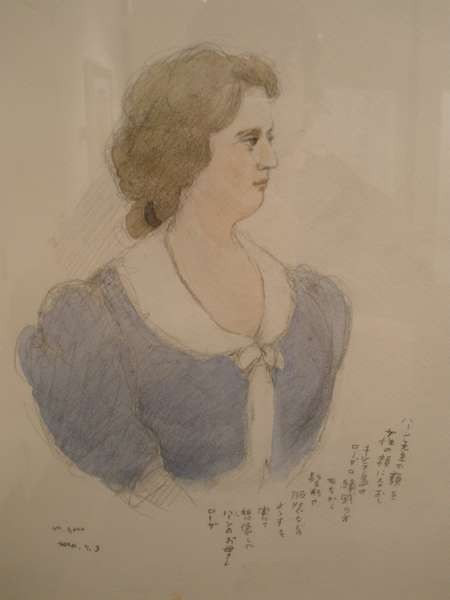 Mitsumasa Anno's portrait of Rosa Cassimati drawn from reminiscences