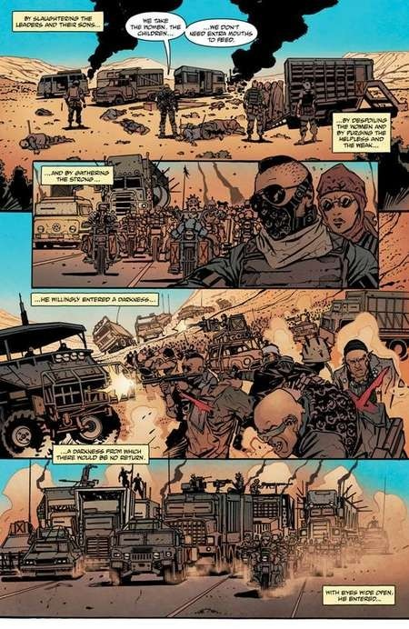 Mad Max: Fury Road. Comic. Interior art by Riccardo Burchielli