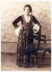 Stamatia Notaris (nee Tzortzopoulos) in Greek National Dress
