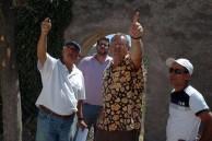 Architect Elias Vassiliadis, Ioannis Skinna, Engineer,George Poulos, and Building Supervisor, Refaat Khalil