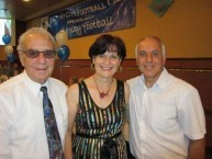 Spyro Calocerinos with the president of the Greek community of Albury Tess Andronicos and her husband, Nick