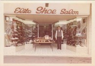 Emanuel Casimatis. Outside the Elite Shoe Salon, Kingsgrove