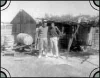 Ten mile camp. Peter Christianos and partner Bill Petrohelos Circa. 1963