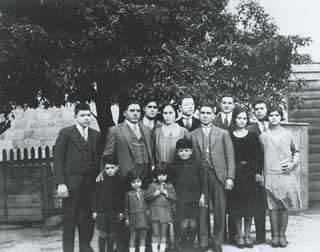 Hobart's early Greeks: Casimaty family and friends, Hobart, Tasmania, c. 1931.