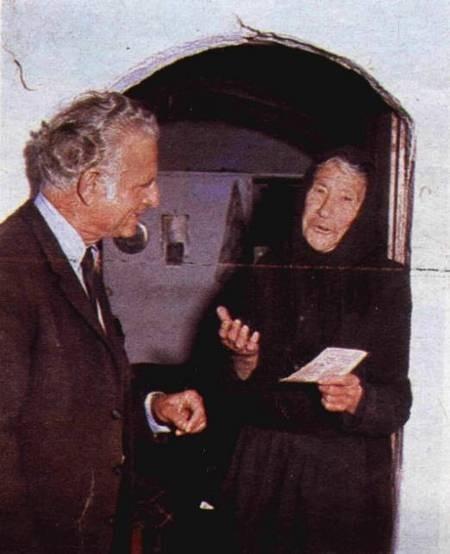 Mrs Georgia Veneris, aged 88, in the doorway of her quarters...