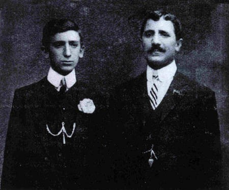 Nicholas P Aroney (i Liapos), and his son Peter Aroney.