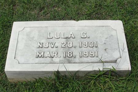 Gravestone of Lula Cavacos (nee, Chlenzos), Greek section, Woodlawn Cemetery, Baltimore, Maryland