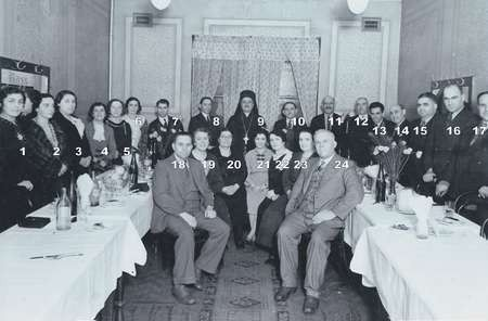 Farewell party for Bishop Nikodimos, [numbered], 1938