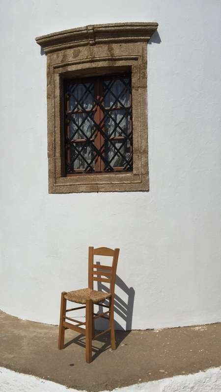 In the shadow of a chair