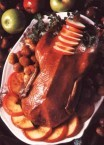 Roast goose with chestnut stuffing