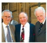 Professor Ben Freedman, Mitchell Notaras and Rowan Nicks at a recent function to announce a $1.1 Fellowship donated by Mitchell Notaras.