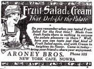 Aroney Brothers, Nowra. Advertisment, 1926.