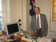 Professor Minas Coroneo in his Randwick office, at the Prince of Wales Hospital.