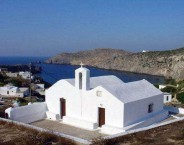 Aghios Nickolaos at the entrance of the harbour, on