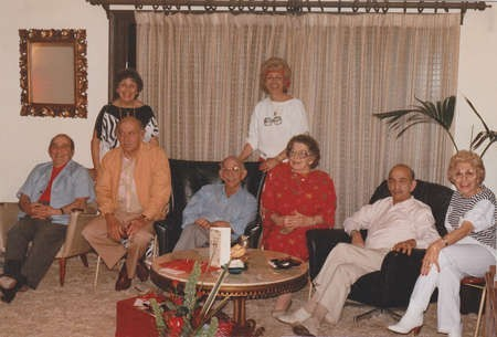8 remaining children of George and Agapi Lianos, 1987, in Uncle Tony's home, in Killarney Heights