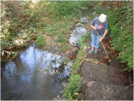 Environmental Archaeology and History in Northern Kythera: - Gregory Cleaning the watercourse just below the Keramari spring