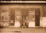 Canberra Cafe. Cosmas Cassimatis on the right.