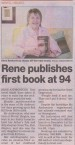 94 year old Brisbane author, Rene Andronicos. The above article is from the Northside Chronicle dated 13th November 2013