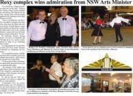 Roxy complex wins admiration from NSW Arts Minister