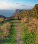 A walking trail on Kythera