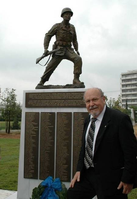 Greek Operational Group Soldier Monument - saffas I-95.jpg Sculptor Andrew G Saffas