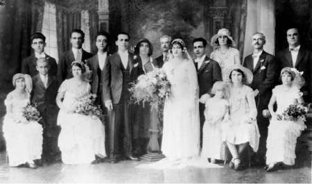 Wedding in 1932 at Townsville of George Kyriakakis (Kirk) and Amigdalia (Magdalene)  N. Barbouti.